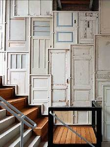 Wooden door wall decor : Modern wall decor ideas recycling old wood doors for