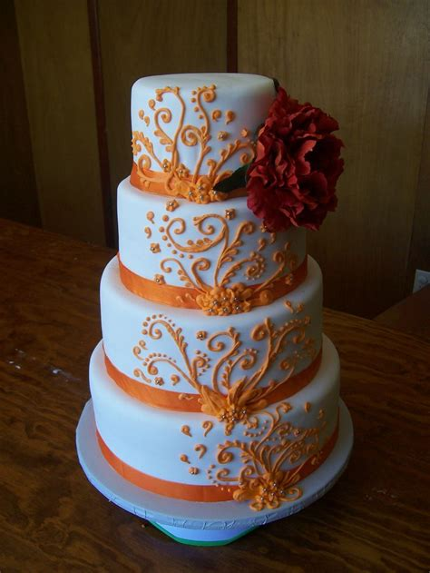 southern blue celebrations orange wedding cake ideas