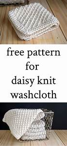Free Pattern For Daisy Knit Washcloth With Instructions And Videos   Knitting  Knittingpattern