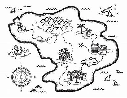 Treasure Coloring Map Pages Pirate Maps Printable