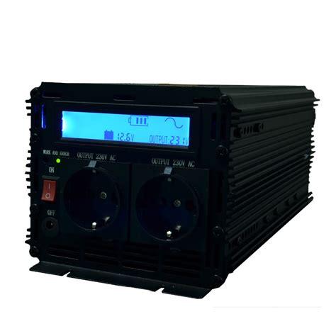 dopower inverter sine wave 2500w dc 12v to ac 220v lcd display inverter with remote