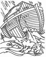 Ark Coloring Flood Noah Drawing Noahs Preschool Printable Sheet Getdrawings Getcolorings sketch template