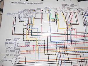 Yamaha Oem Factory Color Wiring Diagram Schematic 1986 Yx600s Yx600 S Sc