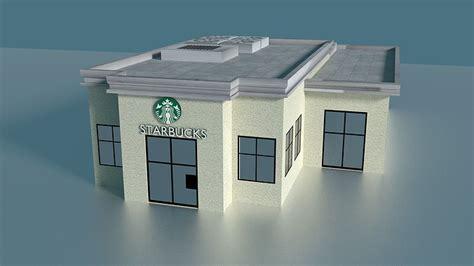 starbucks building  model cgtrader