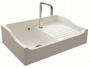 davausnet evier cuisine ceramique blanc castorama With salle de bain design avec evier ceramique 1 bac