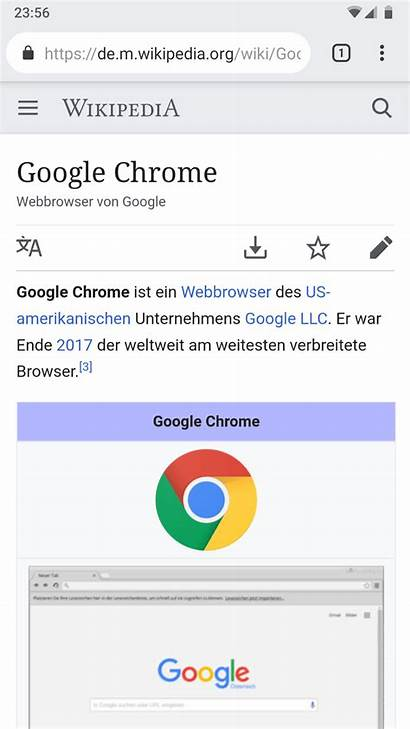 Chrome Google Android Screenshot Browser Wikipedia Commons