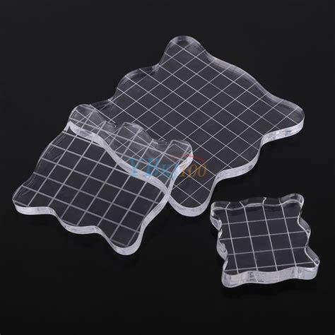 transparent scrapbook craft clear stamp pad diy tool