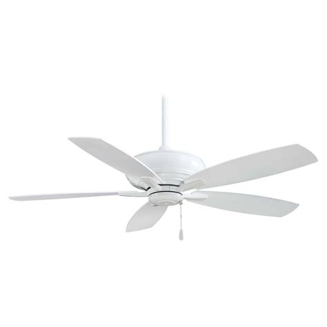 ceiling fan without light in white finish f688 wh