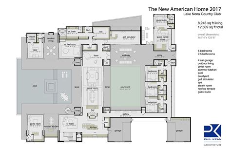 New American Floor Plans by Floor Plan Of The 2017 New American Home House Plans In