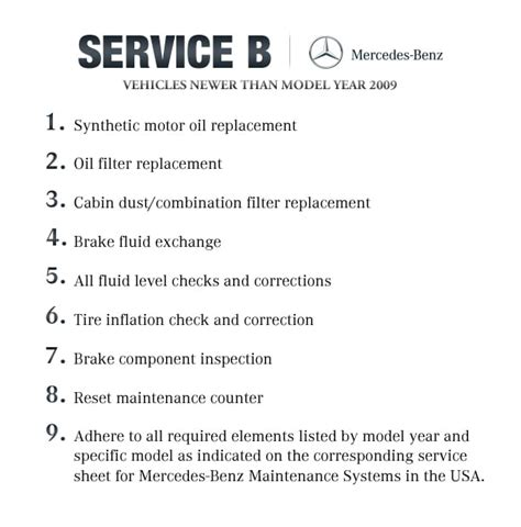Get your next interim service or full service from kwik fit and save on dealership prices. Mercedes benz service b checklist