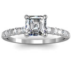 asscher engagement rings engagement ring settings engagement ring settings for asscher cut