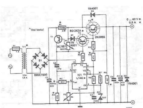Lab Power Supply Circuit Diagram Electronic Project