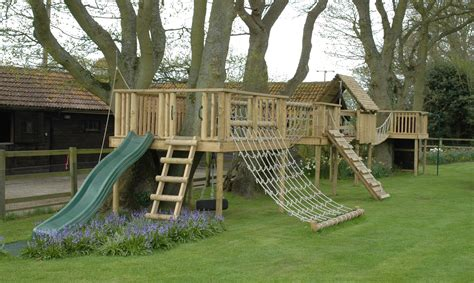 Wooden Climbing Frames Promoting Outdoor Play