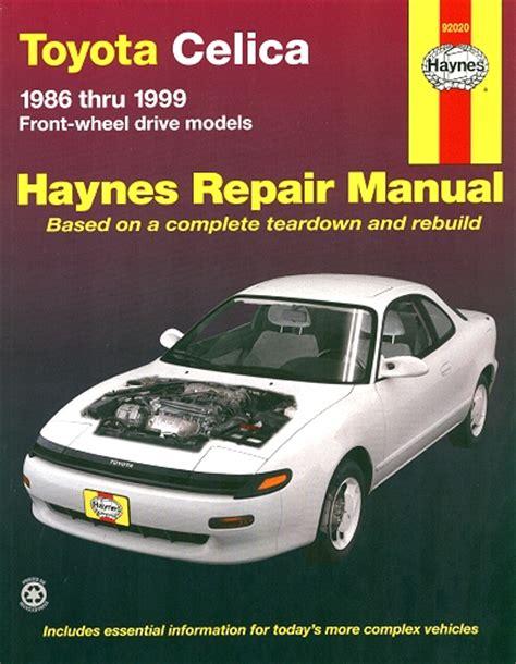 online service manuals 1995 toyota celica free book repair manuals toyota celica repair and service manual 1986 1999 haynes