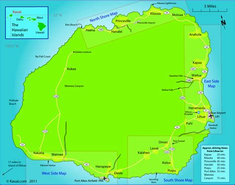 kauai map kauaicom kauai pinterest kauai map