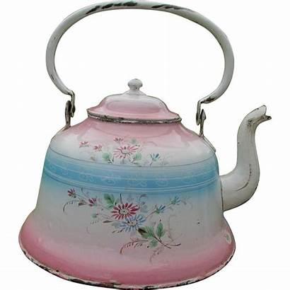 Tea Kettle French Teapot Antique Agateware Neatcurios