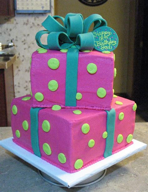 cake decorating ideas two tier gift box cake cakecentral com