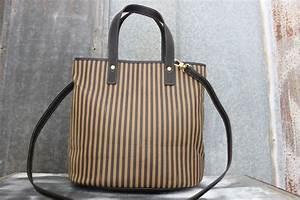 Fendi Vintage Never Carried Signature Striped Bucket Bag ...