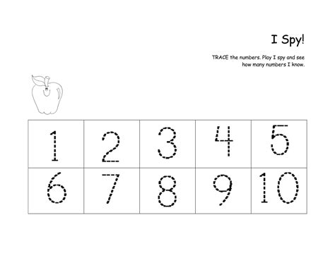 writing numbers worksheet 1 10 kindergarten faith i can