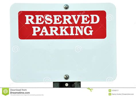 Reserved Parking Signs Template by Blank Reserved Parking Sign Stock Image Image 13793177