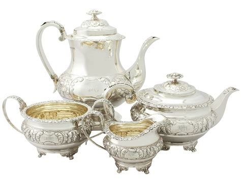 Antique Sterling Silver Four Piece Tea And Coffee Service