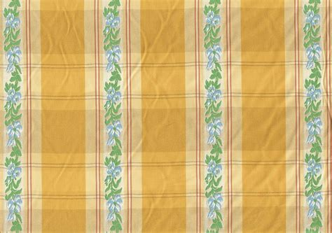 Designer Fabric Yellow Blue Embroidered Stripe Drapery