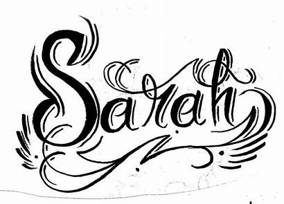 Sarah Tattoo Drawings Play Lettering Calligraphy Deviantart