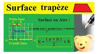 calculer surface ou aire d 39 un trap ze maths g om trie - Calcul D Une Surface A Peindre