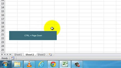 how to switch between tabs in excel sheet shortcut to