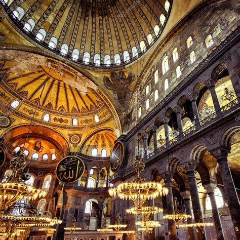 Santa Sofia Istanbul Interno All Interno La Hagia Istanbul Turchia Foto