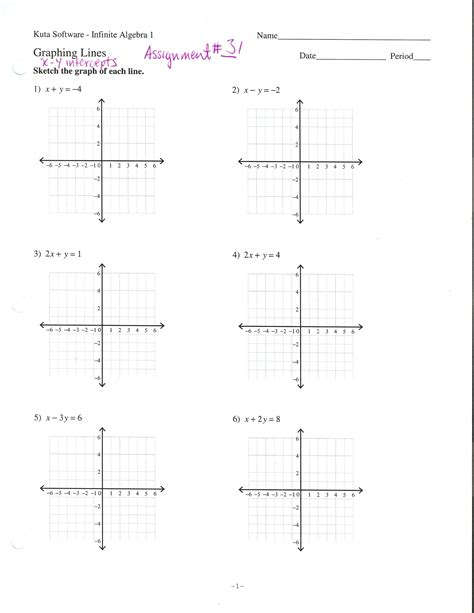 worksheet graphing linear equations worksheets for all