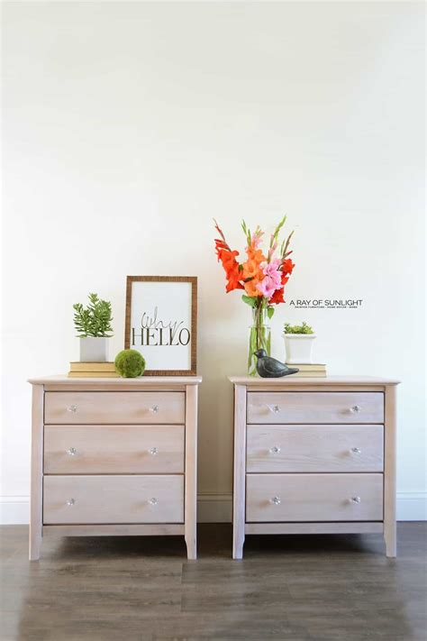 white washed nightstands country chic paint blog