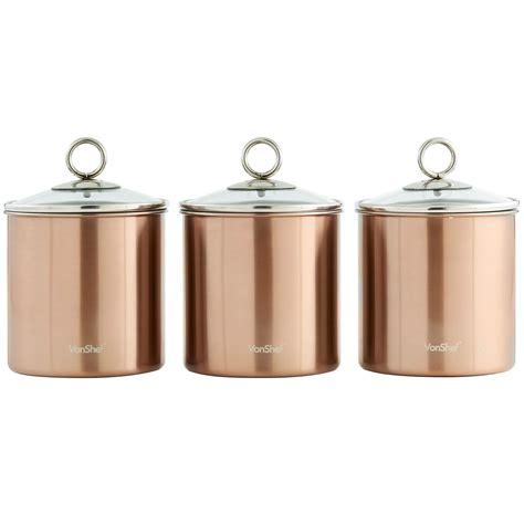kitchen storage canister vonshef 3pc stainless steel tea coffee sugar kitchen