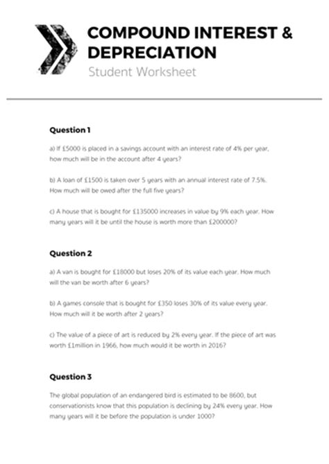 Compound Interest & Depreciation  Complete Lesson By Tomotoole  Teaching Resources Tes