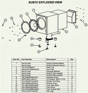 Jbl Sub-10 Sub-woofer - Schematic  Circuit Diagram