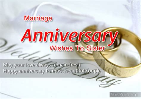 Marriage Anniversary Wishes To Sister And Brother In Law