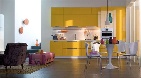 cuisine jaune moutarde decoration cuisine fly