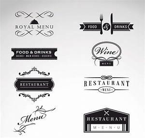 Vintage logo restaurant menu vector set | Free download
