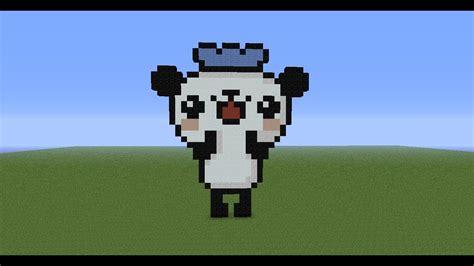 minecraft pixel art tutorial  panda youtube