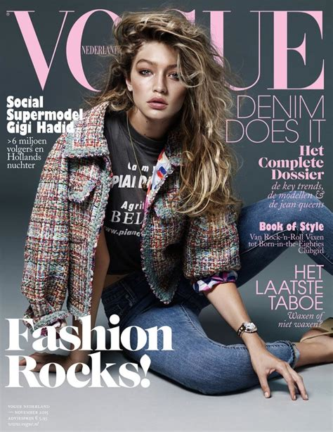 Latest Vogue Cover by Gigi Hadid Vogue Netherlands November 2015 Cover