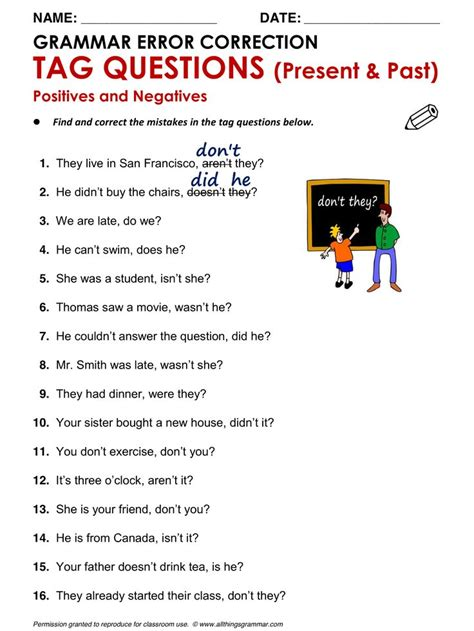 english grammar tag questions wwwallthingsgrammarcomtag