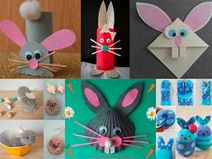 Idee Repas De Paques : diaporama 7 bricolages lapins pour p ques ~ Melissatoandfro.com Idées de Décoration