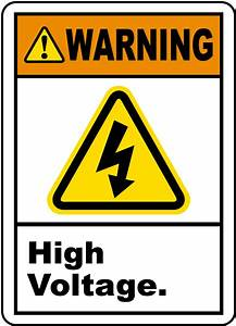 warning high voltage label by safetysigncom j6730 With high voltage warning label requirements