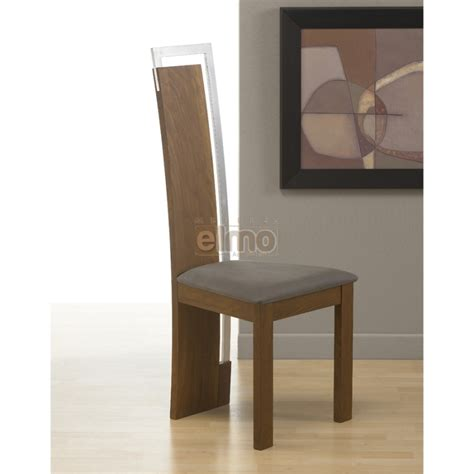 chaise en bois design chaise salle à manger design moderne bois massif et chrome