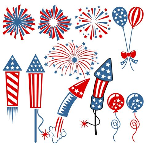 To clarify the list of pictures that you see: Fourth of July Fireworks Designs Svg Cuttables