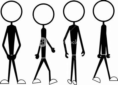 Stick Cartoon Figure Poses Actions Drawing Draw