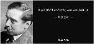 H. G. Wells quo... Future Warfare Quotes