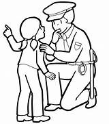 Police Coloring Pages Officer Printable Policeman Getcoloringpages Badge Dog sketch template
