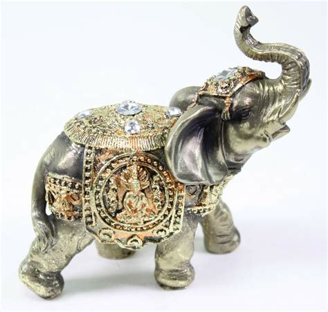 elephant home decor feng shui bronze elephant trunk statue wealth lucky