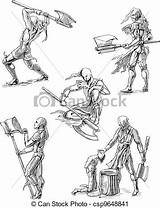Executioner Sketches Vector Drawings Clip Illustrations Illustration Drawing Canstockphoto sketch template